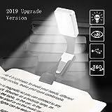 Vegena Leselampe, Buch Klemme Buchlampen, Leselicht, Wiederaufladbar LED Buchlampe mit Zwei Clip,...