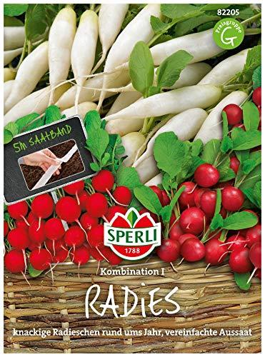 Radieschen Kombination 1 | 3 Sorten | 5m Saatband mit ca. 250 Radieschen Samen…