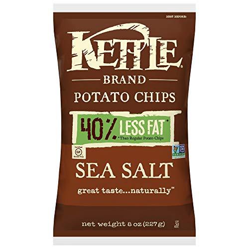 水壶品牌烤薯片,海盐,8盎司(包装12)