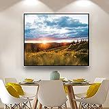 zgwxp77 Paisaje Pared Arte Lienzo Pintura Paisaje Carteles e Impresiones para Decorar la decoración del hogar Cuadros de pared60x48cm sin Marco