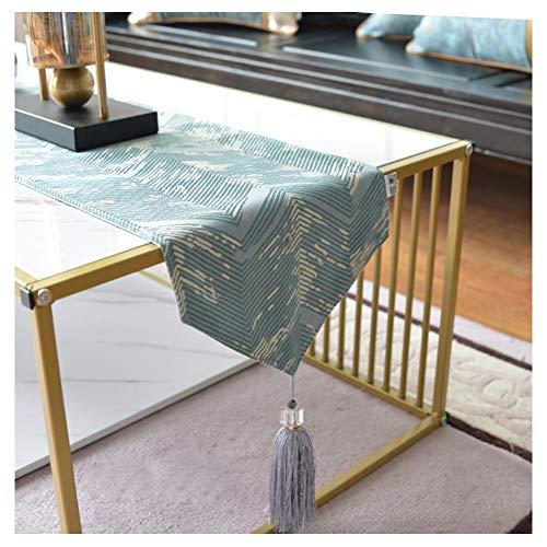 WXIAO Moderne tafelloper, haken, franjes, rechthoekig, sober, tafelkleed, maaltijden in de modus, zacht, tafel