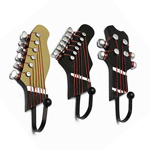 MJJEsports 3 stks gitaar hoofd muur gemonteerde haken muziek stijl decoratie