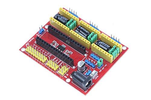 ARCELI Scheda di espansione per kit di macchine per incisione CNC Shield V4 compatibile per Arduino Nano