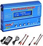 ARCELI 80W 6A Lipo Battery Balance Charger Discharger for LiPo,Li-ion,Life,LiHV Battery (1-6S), NiMH,NiCd (1-15S), Rc Hobby Battery Balance Charger LED W,AC Power Adapte (B6-Blue)