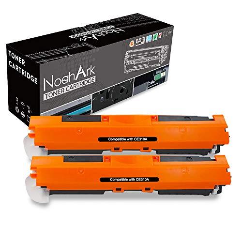 NoahArk Compatible para HP 126A (CE310A) 130A (CF350A) Cartucho de tóner Reemplazo para HP Laserjet CP1025 CP1025nw CP1020 M175a M175nw Pro 100 MFP M175a M175nw M275 TopShot M275a M275nw (2 Negro)