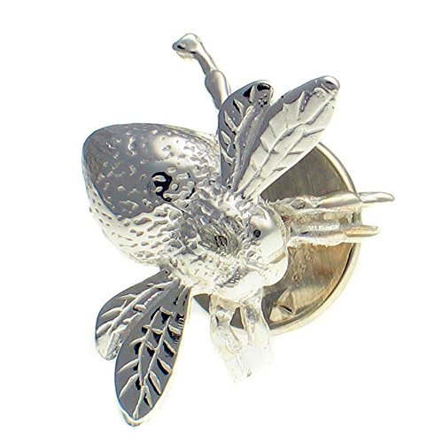 Welded Bliss Sterling 925 Silver Bee, Lapel Pin, Stud Brooch WBC1537
