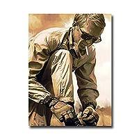 映画スターポスターウォールアートプリントアートレーシングカーポスターキャンバスペインティングポスタープリントウォールアート写真リビングルームの家の装飾-50x70cmx1pcs-フレームなし