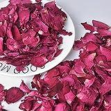 100g Pétalos de Rosa Secos, Naturales Petalos de Rosa para Pies Baño SPA, Real Pétalos de Flor Confeti para Decoración Bodas Fiestas día San Valentín
