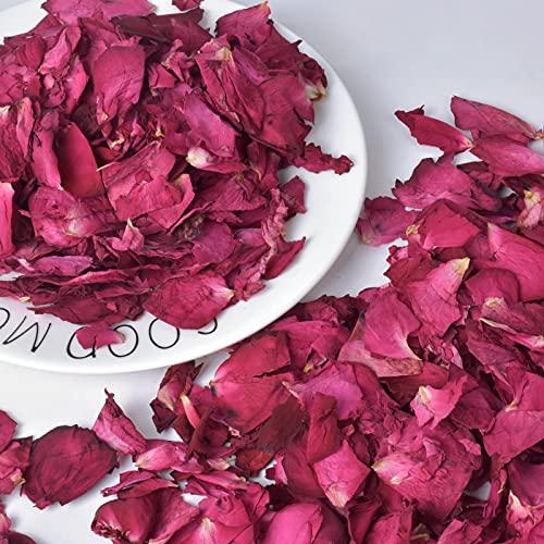 100g Pétalos de Rosa Secos, Naturales Petalos de Rosa para Pies Baño...