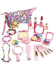 ARANEE Juego de Maquillaje para niñas, 20 Piezas, Juego de Maquillaje con Bolsa de cosméticos, Regalo para niños (no cosméticos Reales)