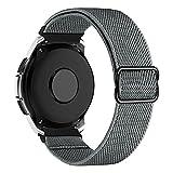 MroTech Compatible con Samsung Galaxy Active/Active2 40mm/44mm/Galaxy Watch 3 41mm/Galaxy 42mm Correa Nailon elástico 20mm Pulseras Repuesto para Huawei GT 2 42 mm Banda Nylon Woven Band Loop-Gris