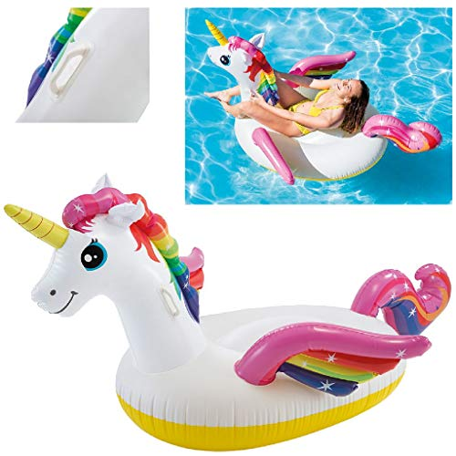 Intex 57561NP - Unicornio hinchable tamaño mediano 198x140x