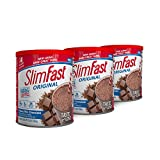 Slim Fast Original Weight Loss Meal Replacement Shake Mix Powder With 10g of Protein & 4g of Fiber Plus 24 Vitamins & Mineralsper Serving, Creamy Milk Chocolate, Pack Of 3