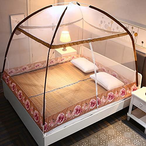 Mosquitera Portátil Instalación Simple Tienda De Cama Viajes Al Aire Libre Cámping,Marrón,120X200 CM