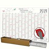 Posterkalender 2021 Motiv Papierflieger Plakatwandplaner Jahresplaner für´s Büro Planer mit Folienstift abwischbar 70 x 50 cm