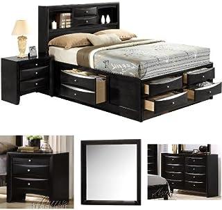 Amazon.com: Black - Bedroom Sets / Bedroom Furniture: Home ...
