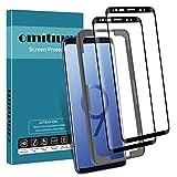 omitium Protector Pantalla para Samsung Galaxy s9, [2 Pack] Dureza 9H Cristal Templado Samsung Galaxy S9 3D Curvado Cobertura [Marco Instalación Fácil] Vidrio Templado Samsung S9
