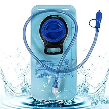FGen Poche a Eau, Poche Hydratation Portable, Poche à Eau 2l, Gourde pour Sac a Dos Trail, Sac à Dos de Course, Sac Trail Running, pour Utilisation en Extérieur (Bleu)