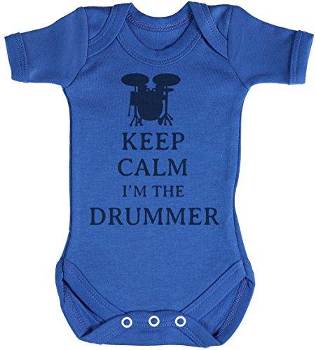 Keep Calm I'm The Drummer Body bébé - Gilet bébé - Naissance Bleu