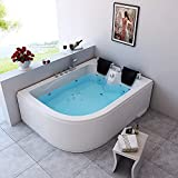 Home Deluxe - Whirlpool - Blue Ocean XL Links - Maße: 180 x 120 x 65 cm - inkl. komplettem Zubehör - 2