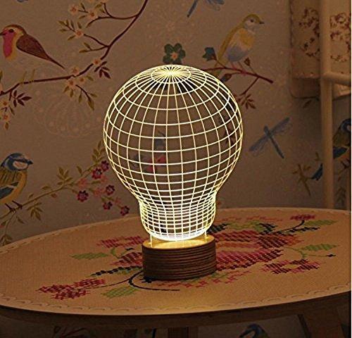 Dngdom 3D lampada creativo decorazione lampada per bambini Natale, Bulb