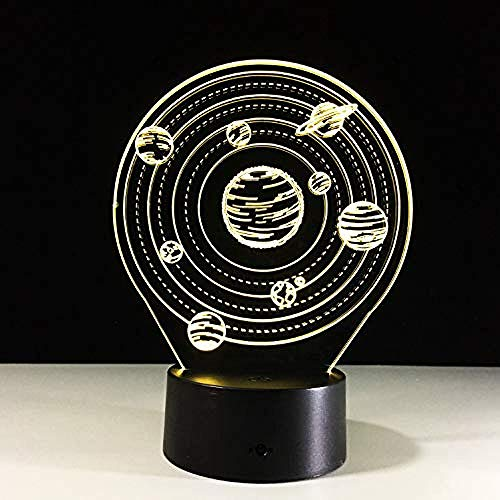 Universe Planet Modell Optische Täuschung Lampe LED 3D-Lampe Nachtlicht Acryl Atmosphäre Lampe 7 Farbe Moderne Lampe