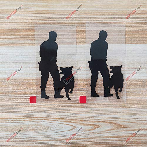 2X Black 4'' K9 K-9 Police Dog Decal Sticker German Shepherd Training Car Vinyl Style a