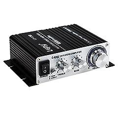 Lepy LP-VS3 25Wx2 Wzmacniacz + HiFi Opóźniona ochrona + 5A Zasilacz Euro Plug
