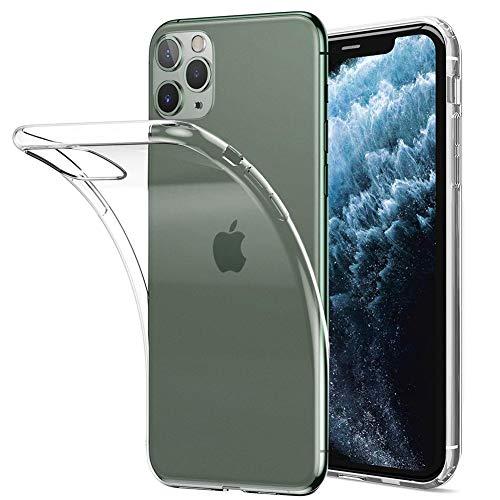 Amonke Funda iPhone 11 Pro - Silicona Transparente TPU Carcasa, Flexible Suave Cristal Clear Ultra Slim Antigolpes Antiaraazos Bumper Case Cover para Movil Apple iPhone 11 Pro