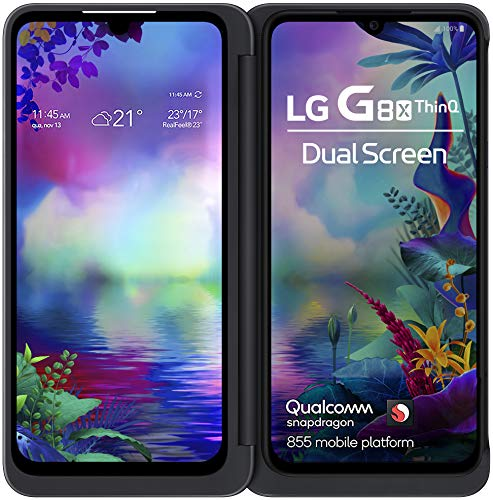 LG G8X | Dual Screen (Aurora Black, 6GB RAM, 128GB Storage, Dual OLED Screens)