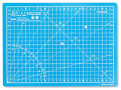 Elan Cutting Mat A4 Blue, 5-Ply Craft Mat, Self-Healing Cutting Board Craft, Art Mat, Self Healing Cutting Mat 30 x 22, Dressmaking Accessories for Sewing, Quilting, and Crafting