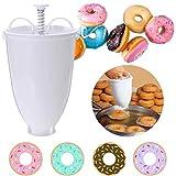 Donut Maker Machine Mold Plastic Doughnut Maker- Donut-Depositor DIY Tool Kitchen Pastry Making Bake Ware Stainless Steel White