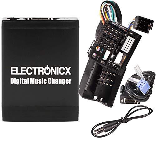 Electronicx Elec-M06-REN12 Adaptador de Musica Digital para Coche Interfaz USB SD AUX Cambiador de CD para Renault 12Pin