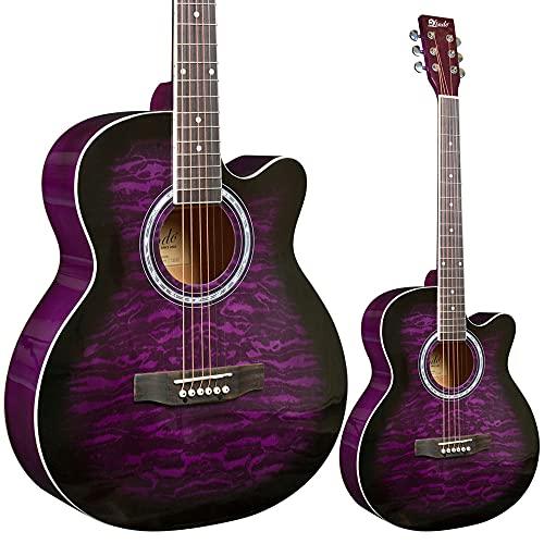 Lindo Paquete de guitarra acústica y accesorios de amatista estándar (Gigbag, sintonizador...