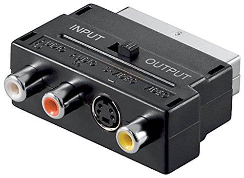 TUMOVIL_3.0 Adaptador convertidor Euro Conector euroconector a 3rca convertidor s-Video 3 RCA...