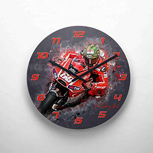 GP-Clock - Nicky Hayden - 01 | Wanduhr 29 cm