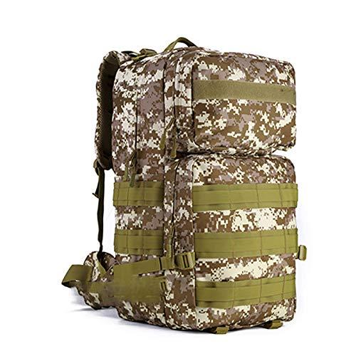 ASPZQ 55 Liters Outdoor Large Backpack Mountaineering Bag Travel Backpack Travel Rucksack Bag Waterproof Backpack,C