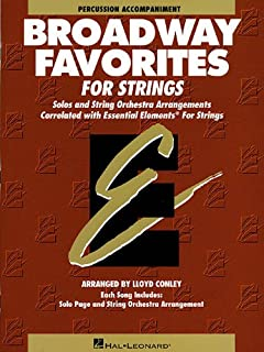 Essential Elements Broadway Favorites for Strings - Percussion Accompaniment