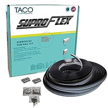 Taco SuproFlex Rub Rail Kit Black w/Flex Chrome Insert [V11-9990BBK80-2]