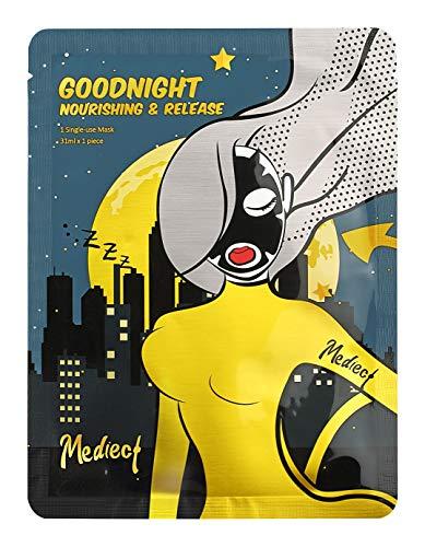 Mediect goodnight nourishing Gesichtsmaske, entspannende Maske zur Gesichtspflege, Night Mask mit Lavendel-und Haferflocken 31ml