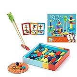 DJECO- Juegos de acción y reflejosJuegos educativosDJECOJuego Totem Zen, Multicolor (15)