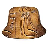 Egyptian,Egyptian Hieroglyphics Old Texts Logographic and Antique Alphabetic Elements Bucket Hat...