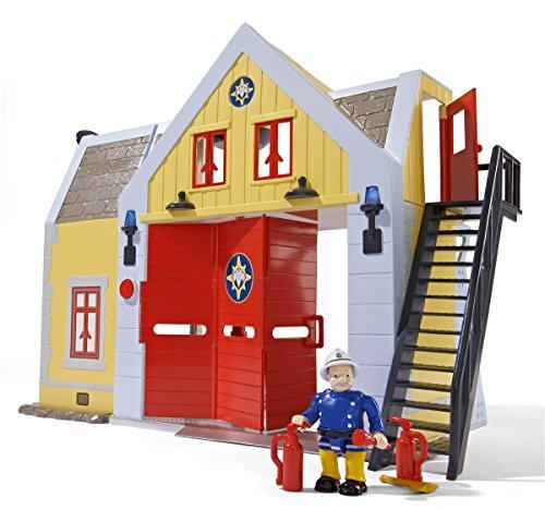 Simba Toys 109251062 - Caserma dei Pompieri con Personaggi in Miniatura