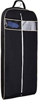 """Thickness Suit/Dress Black Garment Bag with Clear Window Pocket (Mediume - 43"""" Black)"""