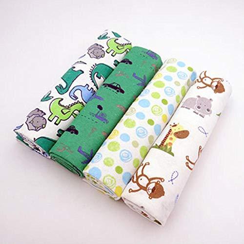 PENVEAT Juego de Ropa de Cama de sábanas para bebés recién Nacidos 76x76 cm para sábanas de cunas recién Nacidas Ropa de Cama de Cuna 100% algodón Franela Impresión Ropa de Cama para bebés, 11