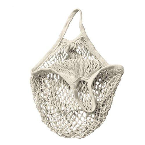 RETON Einkaufsbeutel aus Baumwoll-Netzgewebe, wiederverwendbar, 38cm, Weiß, weiß (Weiß) - STK0155001361