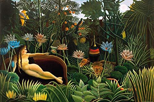 1art1 Henri Rousseau - Der Traum, 1910 Poster Kunstdruck 120 x 80 cm