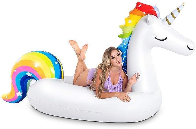 Cupwing Gigante Gonfiabile Piscina Unicorno Gtuttieggiante Piscina Gtuttieggiante Fila - Piscina Vacanza Estiva Equitazione Giocattolo, Unicorno Gtuttieggiante Fila Acqua Gonfiabile Gtuttieggiante Fila