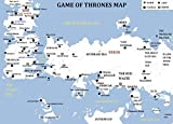 WOLFWOOD STUDIOS Game of Thrones MAP Picture Poster ESSOS Kings Landing Winterfell Castle Black Casterly Rock (8.5 x 11 Color MAP)