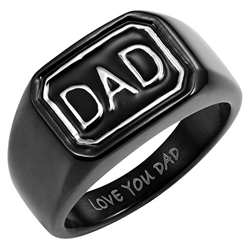 Willis Judd Mens DAD Ring in Gift Box Made from Stainless Steel